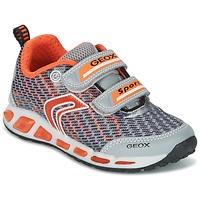 Schuhe Jungen Sneaker Low Geox J SHUTTLE B.A Grau / Orange