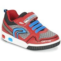 Schuhe Jungen Sneaker Low Geox J GREGG B Rot / Blau