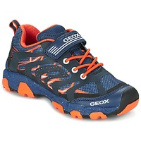 Schuhe Jungen Sneaker Low Geox J MAGNETAR B. A Marine / Orange