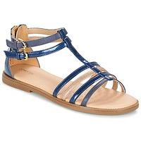 Schuhe Mädchen Sandalen / Sandaletten Geox J S.KARLY G. D Marine
