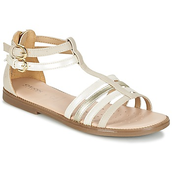 Schuhe Mädchen Sandalen / Sandaletten Geox J S.KARLY G. D Beige
