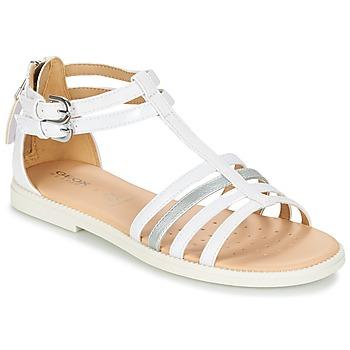 Schuhe Mädchen Sandalen / Sandaletten Geox J S.KARLY G. D Weiss