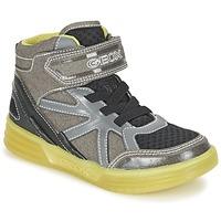 Schuhe Jungen Sneaker High Geox J ARGONAT B. B Grau / Zitrone