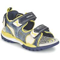 Schuhe Jungen Sportliche Sandalen Geox J BOREALIS B. D Marine / Zitrone