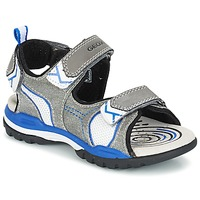 Schuhe Jungen Sportliche Sandalen Geox J BOREALIS B. D Grau / Blau
