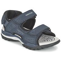 Schuhe Jungen Sportliche Sandalen Geox J BOREALIS B. B Marine