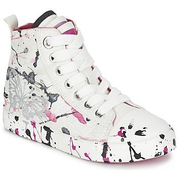 Schuhe Mädchen Sneaker High Geox J CIAK G. C Weiss / Rose