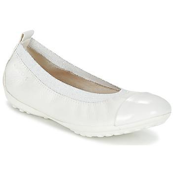 Schuhe Mädchen Ballerinas Geox J PIUMA BALL B Weiss