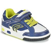 Schuhe Jungen Sneaker Low Geox J GREGG A Blau / Zitrone