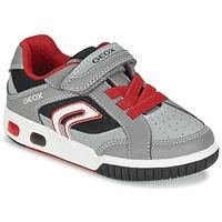 Schuhe Jungen Sneaker Low Geox J GREGG A Grau / Rot
