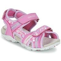 Schuhe Mädchen Sportliche Sandalen Geox J S.ROXANNE A Rose