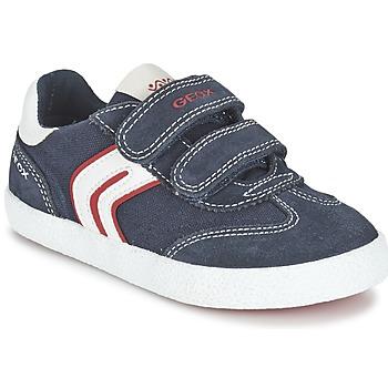 Schuhe Jungen Sneaker Low Geox J KIWI B. M Marine / Rot