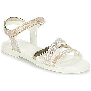 Schuhe Mädchen Sandalen / Sandaletten Geox J S.KARLY G.D Beige / Gold