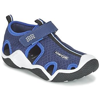 Schuhe Jungen Sportliche Sandalen Geox J WADER C Marine