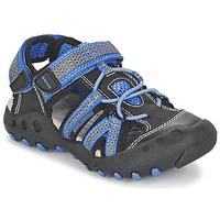 Schuhe Jungen Sportliche Sandalen Geox J SAND.KYLE C Schwarz / Blau