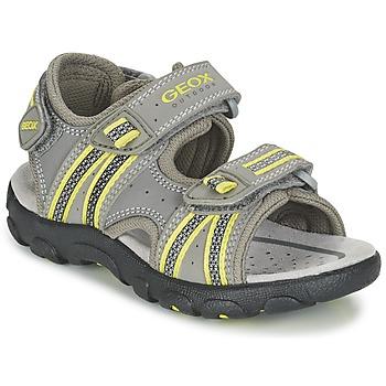 Schuhe Jungen Sportliche Sandalen Geox J S.STRADA A Grau / Grün