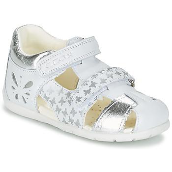 Schuhe Mädchen Sandalen / Sandaletten Geox B KAYTAN G. C Weiss / Silbern