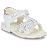 Schuhe Mädchen Sandalen / Sandaletten Geox B SAN.VERRED D Weiss