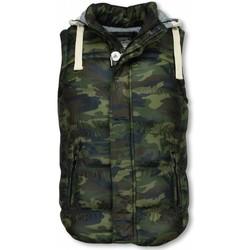Kleidung Herren Strickjacken Enos Bodywärmer Army Kapuze Army Grün
