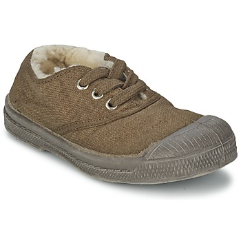Schuhe Kinder Sneaker Low Bensimon TENNIS FOURREES Braun