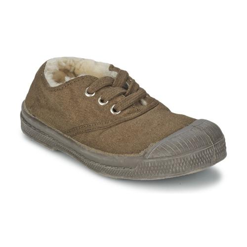 Schuhe Kinder Sneaker Low Bensimon TENNIS FOURREES Braun