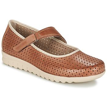 Schuhe Damen Ballerinas Pitillos FARCO Braun