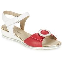 Schuhe Damen Sandalen / Sandaletten Pitillos MERVA Weiss / Rot