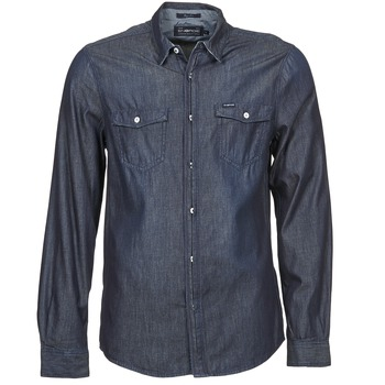 Kleidung Herren Langärmelige Hemden Energie VETTEL Blau