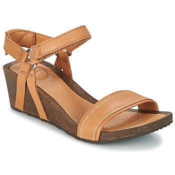 Schuhe Damen Sandalen / Sandaletten Teva YSIDRO STITCH WEDGE Cognac