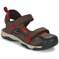 Schuhe Jungen Sportliche Sandalen Teva TOACHI 4 Braun / Schwarz / Rot