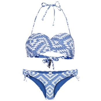 Kleidung Damen Bikini Rip Curl DEL SOL BANDEAU SET Blau / Weiss