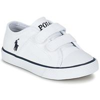 Schuhe Kinder Sneaker Low Ralph Lauren DYLAND EZ Weiss