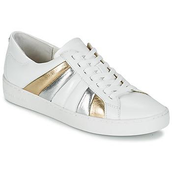 Schuhe Damen Sneaker Low MICHAEL Michael Kors CONRAD SNEAKER Weiss / Gold / Silbern