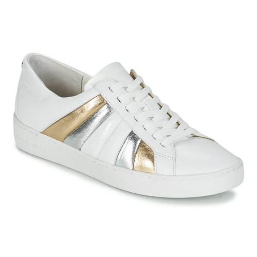 michael michael kors conrad sneaker weiss gold silbern. Black Bedroom Furniture Sets. Home Design Ideas