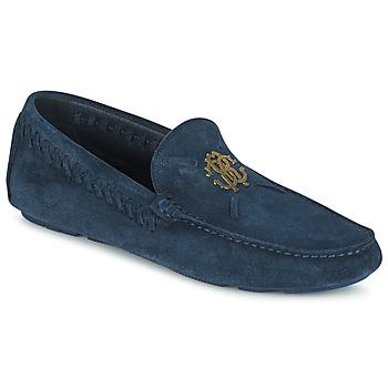 Schuhe Herren Slipper Roberto Cavalli 2022A Blau