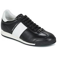 Schuhe Herren Sneaker Low Roberto Cavalli 2042A Schwarz / Weiss