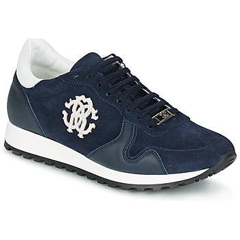 Schuhe Herren Sneaker Low Roberto Cavalli 2058A Marine