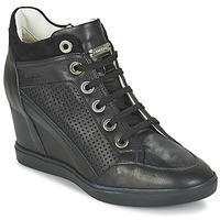 Schuhe Damen Sneaker High Geox ELENI C Schwarz
