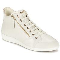 Schuhe Damen Sneaker High Geox MYRIA Weiss