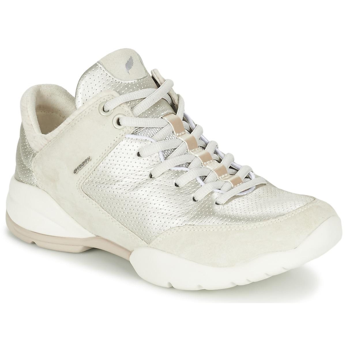 Geox SFINGE A Weiss - Kostenloser Versand bei Spartoode ! - Schuhe Sneaker Low Damen 97,30 €