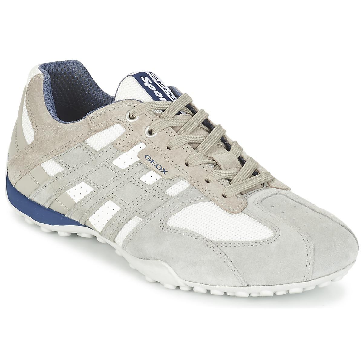 Geox SNAKE Grau / Weiss - Kostenloser Versand bei Spartoode ! - Schuhe Sneaker Low Herren 69,99 €