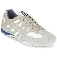 Schuhe Herren Sneaker Low Geox SNAKE Grau / Weiss