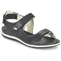 Schuhe Damen Sportliche Sandalen Geox D SAND.VEGA A Schwarz