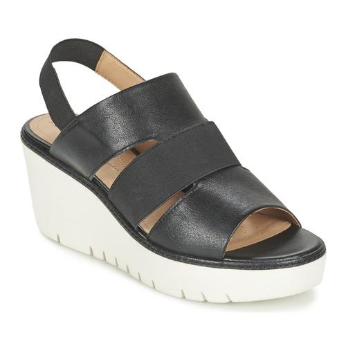 Geox D DOMEZIA B Schwarz  Schuhe Sandalen / Sandaletten Damen 92