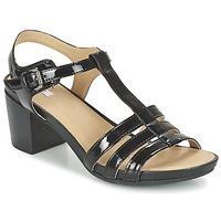 Schuhe Damen Sandalen / Sandaletten Geox D SYMI C Schwarz