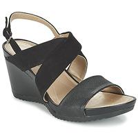 Schuhe Damen Sandalen / Sandaletten Geox D NEW RORIE A Schwarz