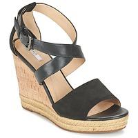 Schuhe Damen Sandalen / Sandaletten Geox D JANIRA E Schwarz