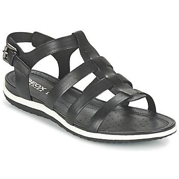 Schuhe Damen Sandalen / Sandaletten Geox D SAND.VEGA A Schwarz