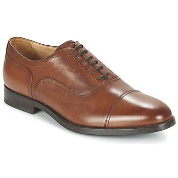 Schuhe Herren Richelieu Geox U HAMPSTEAD C Cognac