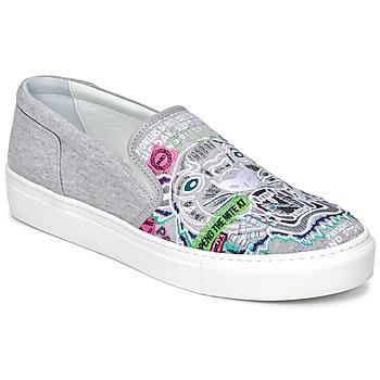 Schuhe Damen Slip on Kenzo K-SKATE Grau